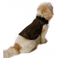 Chewnel Dog Coat Super Lightweight in Chocolate Brown